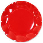 Red Large Plate - 27cm