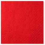 Red 3 ply Napkins - 33cm x 33cm