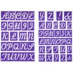 Stick-N-Stay Alphabet Stencils