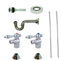 Chrome Kingston Brass CC43101VKB30 Traditional Plumbing Sink Trim Kit with P Trap for Vessel Sink without Overflow Hole, Chrome CC43101VKB30