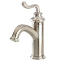 Satin Nickel Fauceture FS5411RL Single Handle Centerset Lavatory Faucet with Push-Button Pop-Up Drain, Satin Nickel FS5418RL