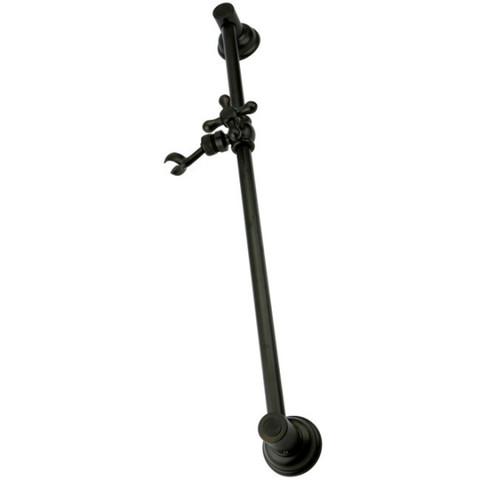 "Oil Rubbed Bronze Kingston Brass 24"" Shower Slide Bar with Adjustable Bracket KSX3525SG"