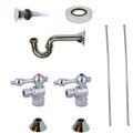Chrome Kingston Brass CC43101VOKB30 Traditional Plumbing Sink Trim Kit with P Trap for Vessel Sink with Overflow Hole, Chrome CC43101VOKB30