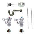 Chrome Kingston Brass CC53301VOKB30 Traditional Plumbing Sink Trim Kit with P Trap for Vessel Sink with Overflow Hole, Chrome CC53301VOKB30