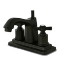 "Oil Rubbed Bronze Kingston Brass Millennium 4"" Centerset Lavatory Faucet, Oil  Rubbed Bronze KS8645ZX"