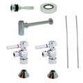 Chrome Kingston Brass CC53301DLVKB30 Contemporary Plumbing Sink Trim Kit with Bottle Trap for Vessel Sink without Overflow Hole, Chrome CC53301DLVKB30