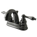 Black Nickel NB5610AL Water Onyx  4 inch centerset lavatory faucet with ABS/Brass pop up drain, Black Nickel NB5610AL