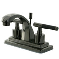Black Nickel NS4640DKL Water Onyx  4 inch centerset lavatory faucet with brass pop up drain, Black Nickel NS4640DKL
