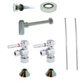 Chrome Kingston Brass CC53301DLVOKB30 Contemporary Plumbing Sink Trim Kit with Bottle Trap for Vessel Sink with Overflow Hole, Chrome CC53301DLVOKB30