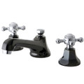 Black Nickel/Polished Chrome NS4467BX Water Onyx widespread lavatory faucet with brass pop-up drain