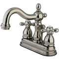 "Polished Nickel Two Handle 4"" Centerset Lavatory Faucet with Retail Pop-up KB1606AX"