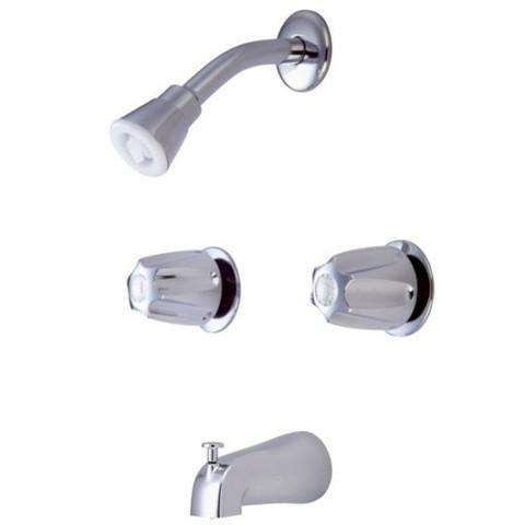 polished chrome two handle tub u0026 shower faucet kf112