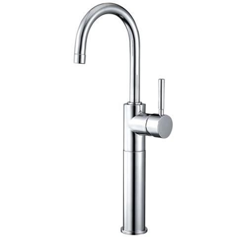Polished Chrome Kingston Brass Concord Single Handle Vessel Sink Faucet  KS8031DL