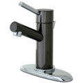 Black Nickel/Polished Chrome NS8427DL Water Onyx single lever lavatory faucet with brass pop up