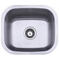 Stainless Steel Gourmetier GKUS16168 Undermount Single Bowl Bar Sink, Satin Nickel GKUS16168
