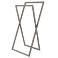Satin Nickel Kingston Brass SCC8298 Pedestal X Style Steel Construction Towel Rack, Satin Nickel SCC8298