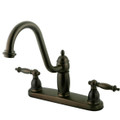 "Oil Rubbed Bronze Double Handle 8"" Kitchen Faucet without Sprayer KB7115TLLS"