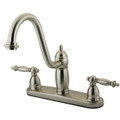 "Satin Nickel Double Handle 8"" Kitchen Faucet without Sprayer KB7118TLLS"