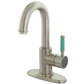 Satin Nickel  FS8438DGL Green Eden Single Handle Lavatory Faucet with Push-up Drain, Satin Nickel  FS8438DGL