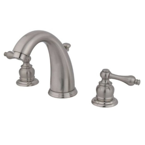 "Satin Nickel Two Handle 8"" to 16"" Widespread Lavatory Faucet with Retail Pop-up KB988AL"