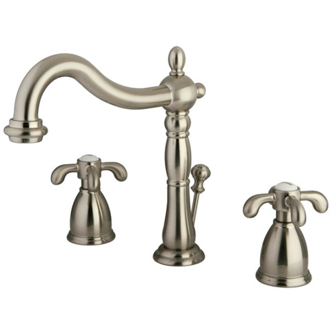 "Satin Nickel Two Handle 8"" to 16"" Widespread Lavatory Faucet with Retail Pop-up KB1978TX"