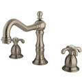 "Satin Nickel Two Handle 8"" to 14"" Widespread Lavatory Faucet with Brass Pop-up KS1978TX"