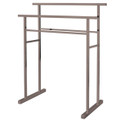 Satin Nickel Kingston Brass SCC8248 Pedestal Steel Construction Towel Rack, Satin Nickel SCC8248
