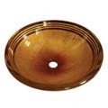 Amber Bronze Fauceture EVSPFB Napoli Round Amber Bronze Glass Vessel Sink EVSPFB4