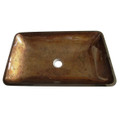 Antique Copper Fauceture EVR2214FB Roma Rectangular Antique Copper Glass Vessel Sink EVR2214FB
