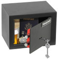 """6.6"""" x 9"""" x 6.7"""" Key Lock Small Steel Security Safe HWDS5002"""