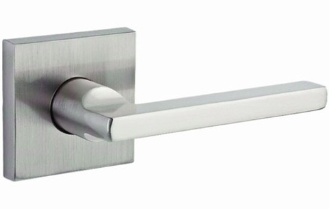 Baldwin HDSQURCSR150 Satin Nickel Square Single Dummy Lever Door Handle