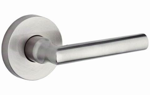 Baldwin PVTUBCRR150 Satin Nickel Tube Privacy Leverset Door Handle