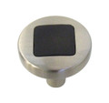 Belwith Hickory 1 In. Loft Satin Nickel With Black Cabinet Knob P3440-SNB Hardware
