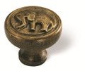 Siro Designs 100-156 Antique Brass  48Mm Knob Elephant