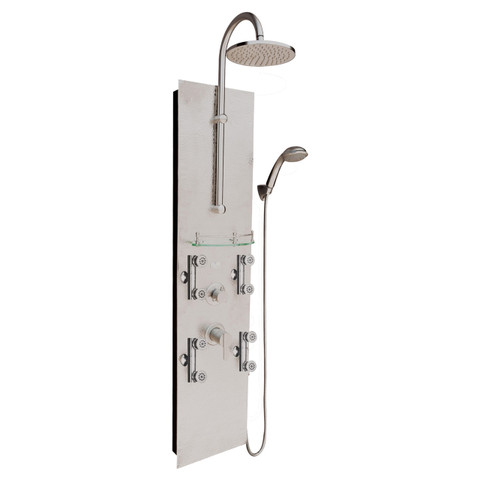 PULSE ShowerSpas Vaquero ShowerSpa Hammered Nickel Shower Panel
