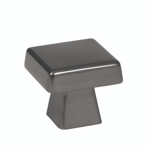 "Amerock BP55271GM  1 1/16"" Cabinet Square Knob Gunmetal Finish Blackrock Collection"