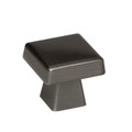 "Amerock BP55273GM 1 1/2"" Cabinet Oversized Square Knob Gunmetal Finish Blackrock Collection"