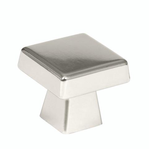 "Amerock BP55273PN 1 1/2"" Cabinet Oversized Square Knob Polished Nickel Finish Blackrock Collection"