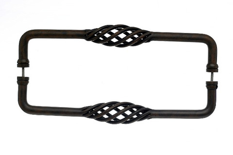 Top Knobs Appliance M1244-12 pair Birdcage Back to BackDoor Pull