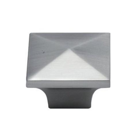 Jamison K53082Sn Knob 32Mm Sq Satin Nickel Pyramid Knob
