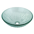 "Crystal Clear Fauceture EVSCFC3 Constellation 16-1/2"" Diameter Round Vessel Glass Sink, Crystal Clear EVSCFC3"