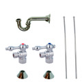 Chrome Kingston Brass CC43101LKB30 Traditional Plumbing Sink Trim Kit with P Trap for Lavatory and Kitchen, Chrome CC43101LKB30