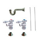Chrome Kingston Brass CC53301LKB30 Traditional Plumbing Sink Trim Kit with P Trap for Lavatory and Kitchen, Chrome CC53301LKB30