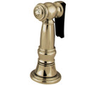 Polished Brass Gourmetier KBSPR32 Kitchen Faucet Sprayer with Hose, Polished Brass KBSPR32