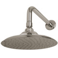 "Satin Nickel KINGSTON BRASS  K136A8CK VICTORIAN  8"" DIA. BRASS SHOWER HEAD WITH 12"" SHOWER ARM COMBO, SATIN NICKEL K136A8CK"