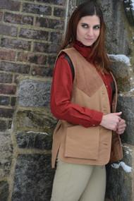 Women's Artemis Moleskin Vest - Camel