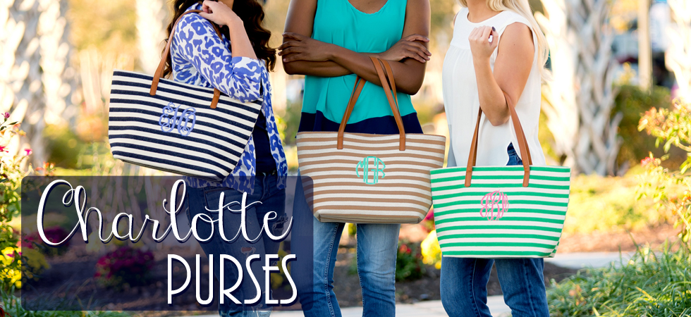 Charlotte Striped Purses