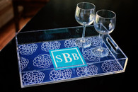 Personalized Acrylic Serving Tray - Large Size