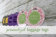 Cute Luggage Tags Personalized (Set of 2)