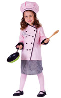 Girl Master Chef Dress Up Costume - Chef Coat, Skirt & Hat